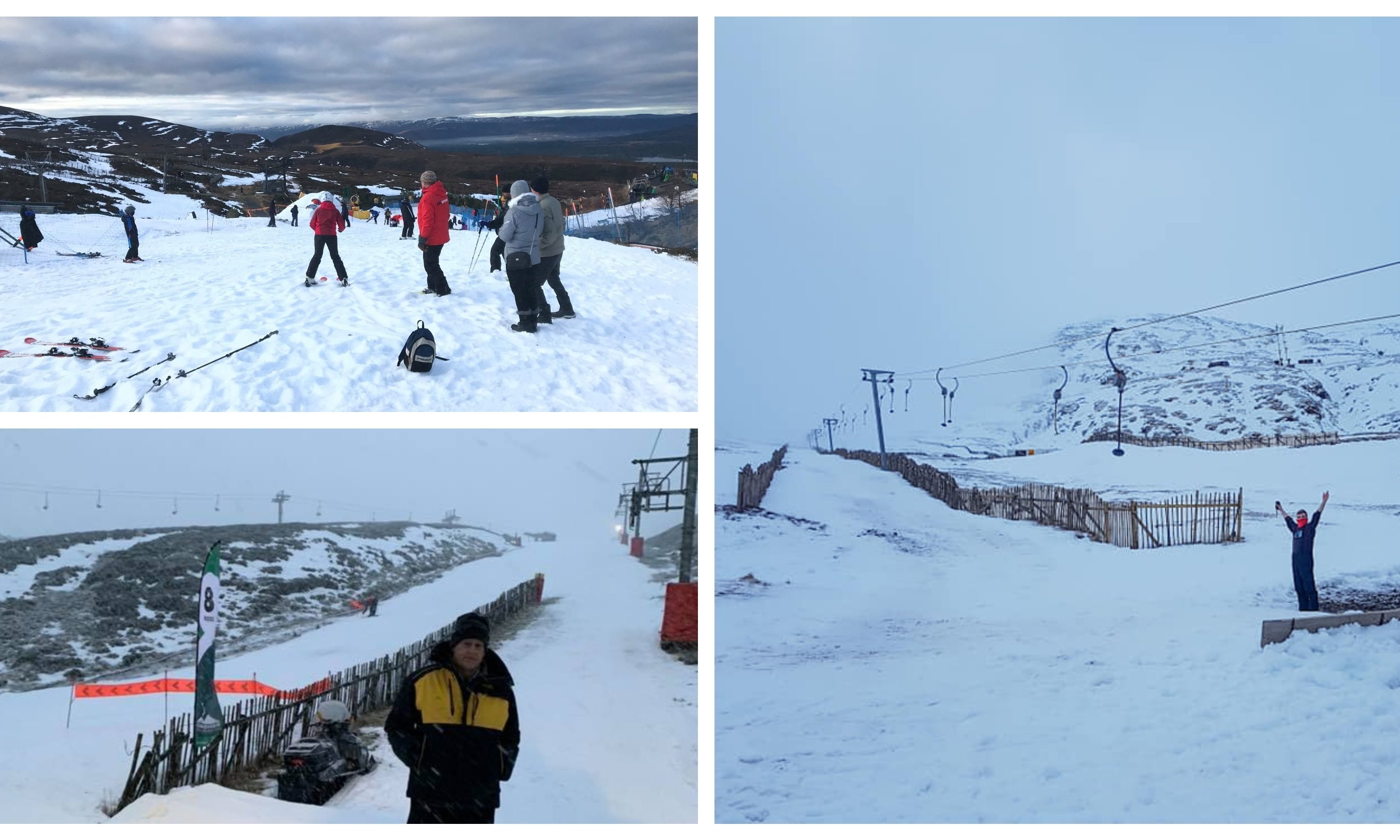 Scotland's ski season is officially under way. Top left: Cairngorm Mountain. Bottom left: Glenshee Ski Centre. Right: Glencoe Mountain Resort.