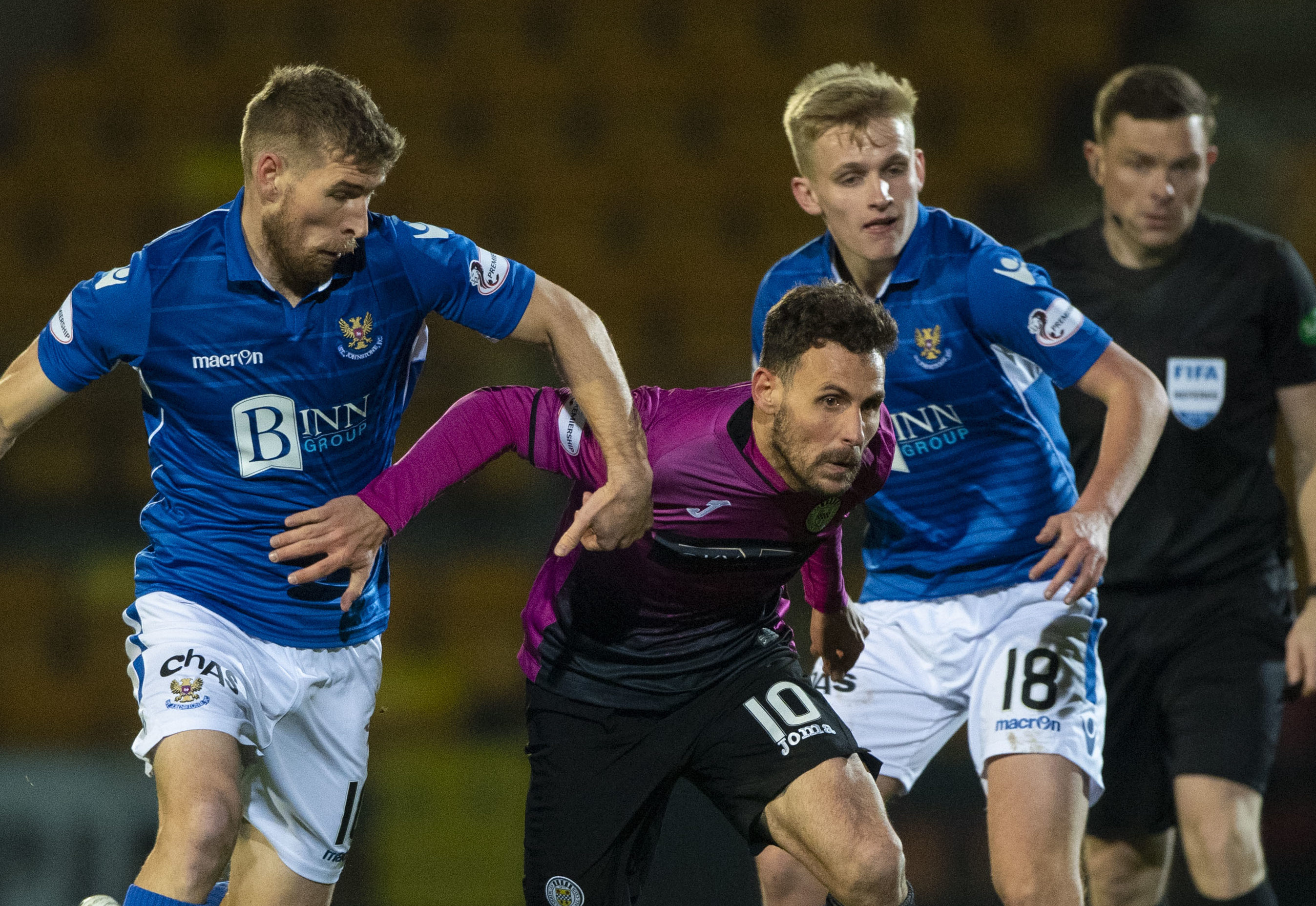 David Wotherspoon in action against St Mirren.