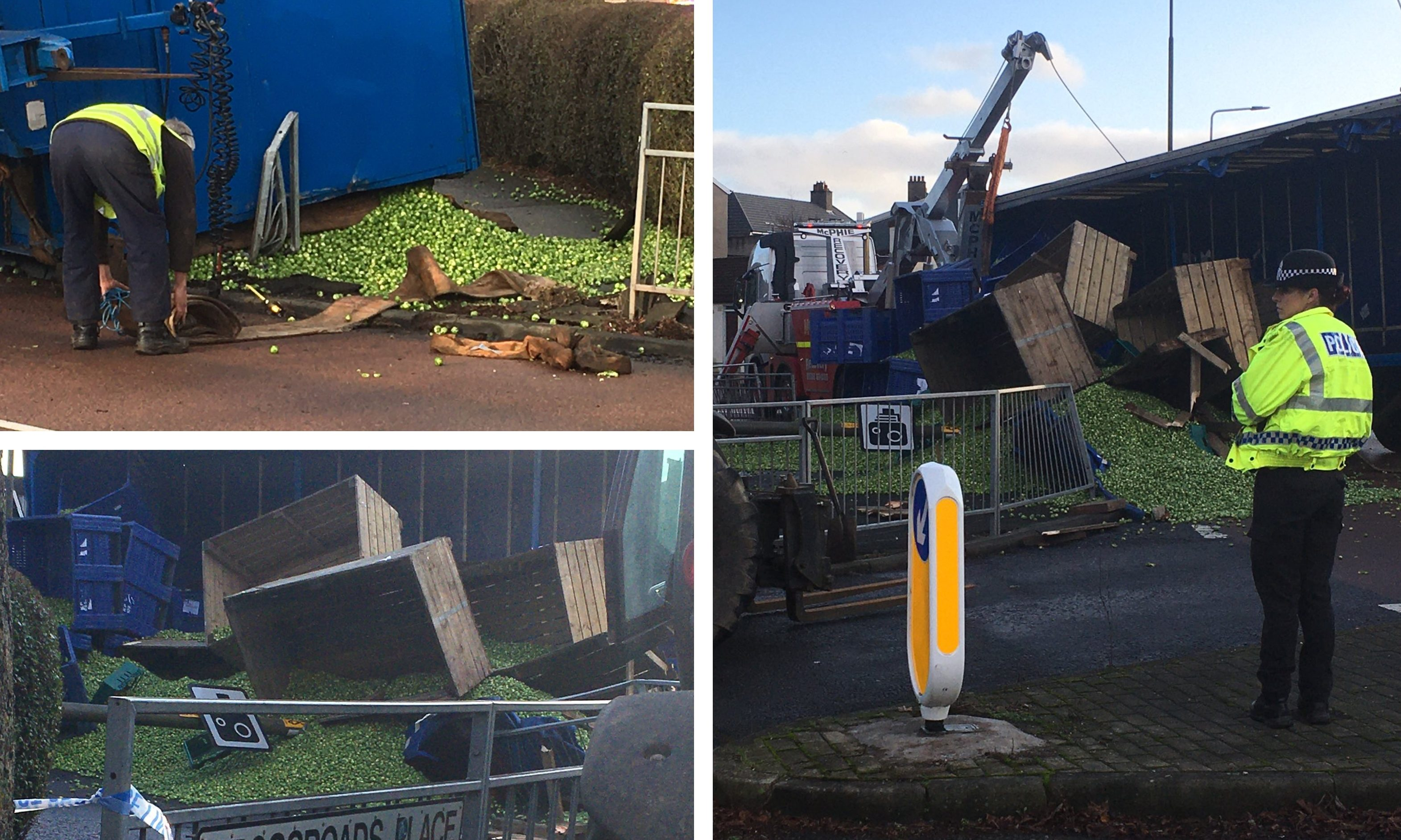 The spilled sprouts in Rosyth.