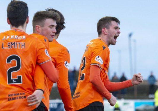 Sam Stanton scored the winner for Dundee United at Arbroath.