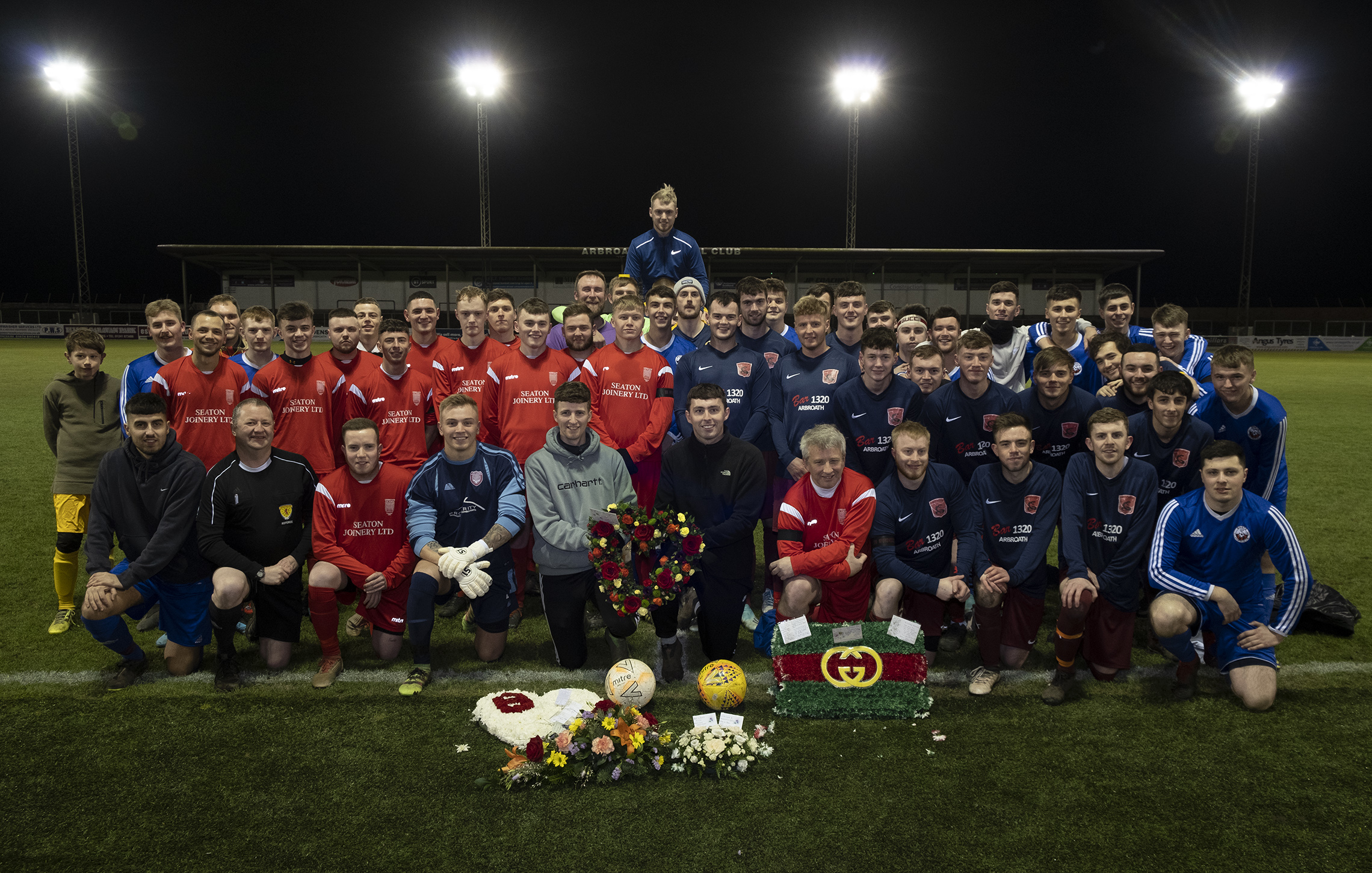 A charity football match in memory of Bailey was held at Gayfield Park.