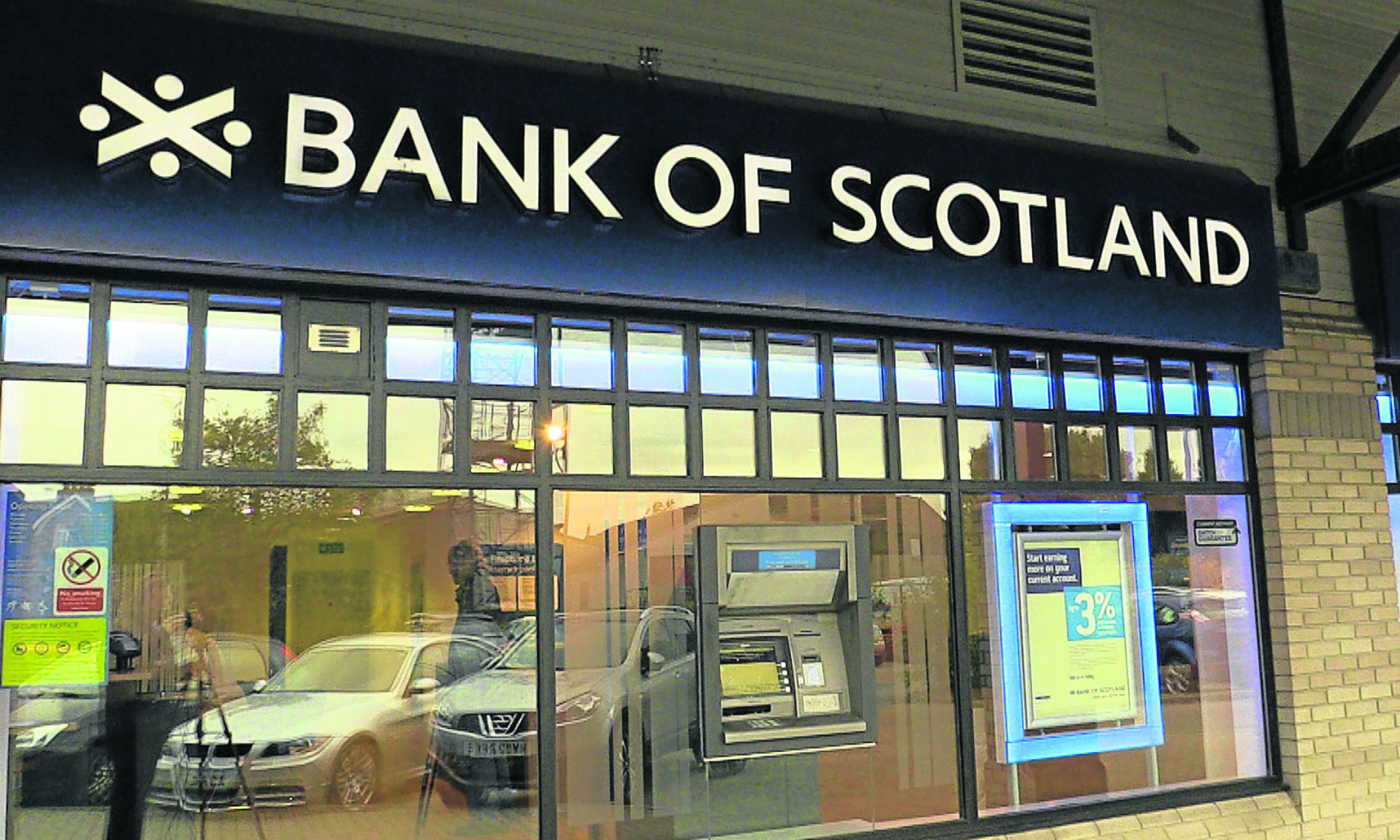 A Bank of Scotland branch