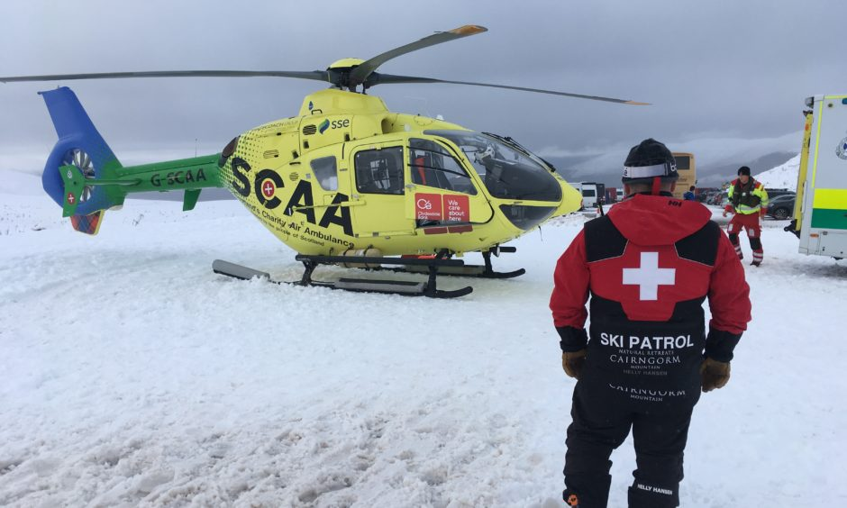 Attending a Cairngorm snowboard accident