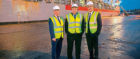 Baker Hughes has extended its deal with Montrose Port Authority by seven years. From left Peter Stuart MPA, Vice-Chairman, Captain Tom Hutchison MPA, CEO and Lorenzo Romagnoli, Baker Hughes Director of Supply Chain