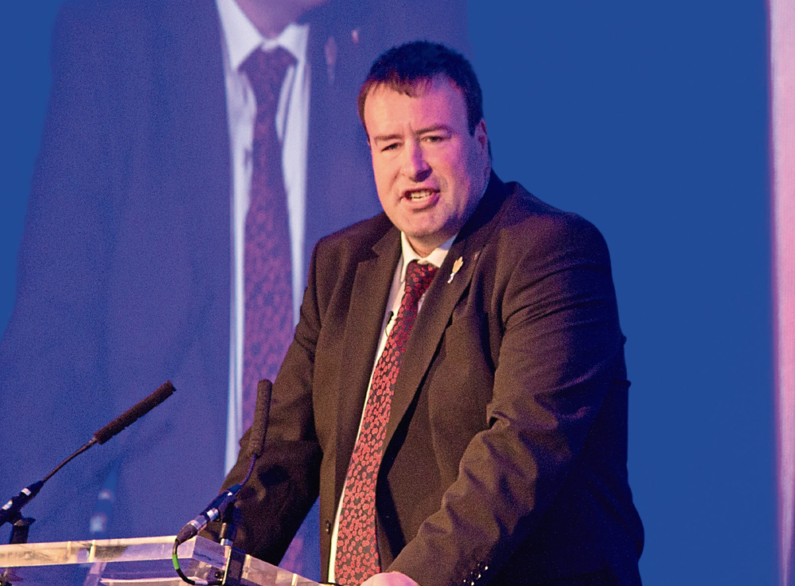 Stuart Roberts, NFU vice-president, speaking at the Semex dairy conference in Glasgow.