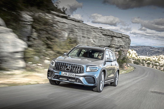 Undated handout photo of the new Mercedes-AMG GLB 35. See PA Feature MOTORING  News. Picture credit should read: Mercedes/PA. WARNING: This picture must only be used to accompany PA Feature MOTORING News.