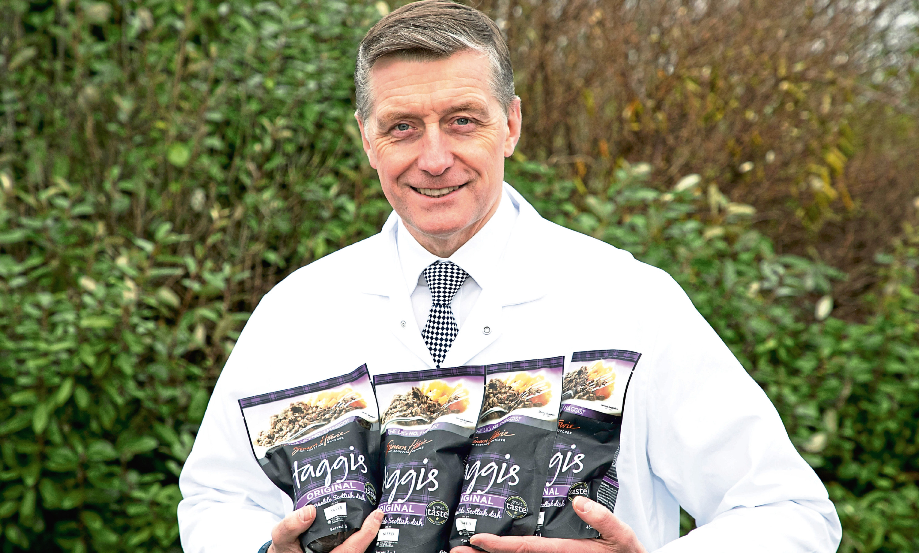 Simon Howie pictured with his products on Perth. Picture: Graeme Hart/Perthshire Picture Agency.