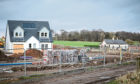 General view of building work near the site at Linlathen.