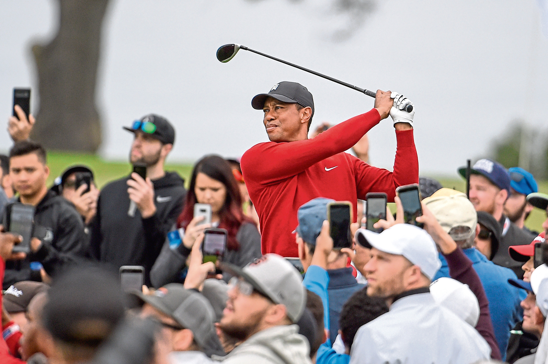 Tiger Woods at Torrey Pines in 2020.