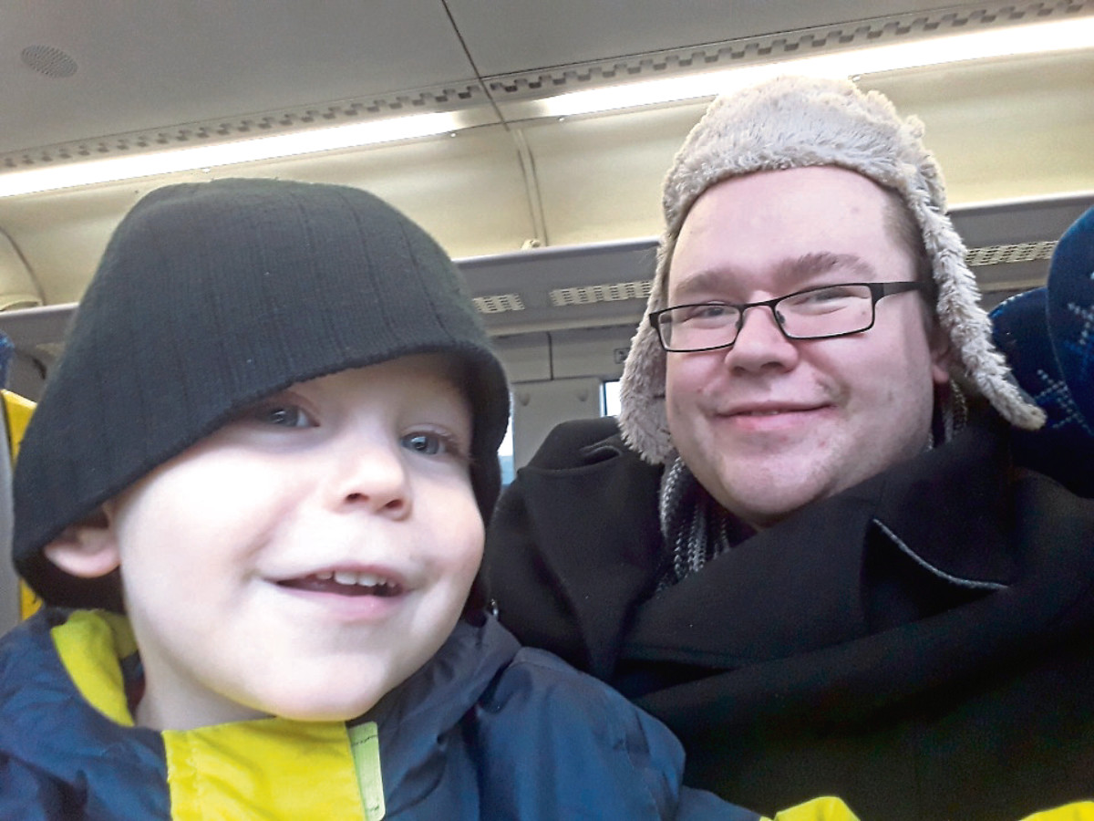 Mateusz Lackowski, 28, who is originally from Gdansk, Poland, moved to the UK 13 years ago and has lived in Cupar for the last six. He is pictured with his son Xander, 3.