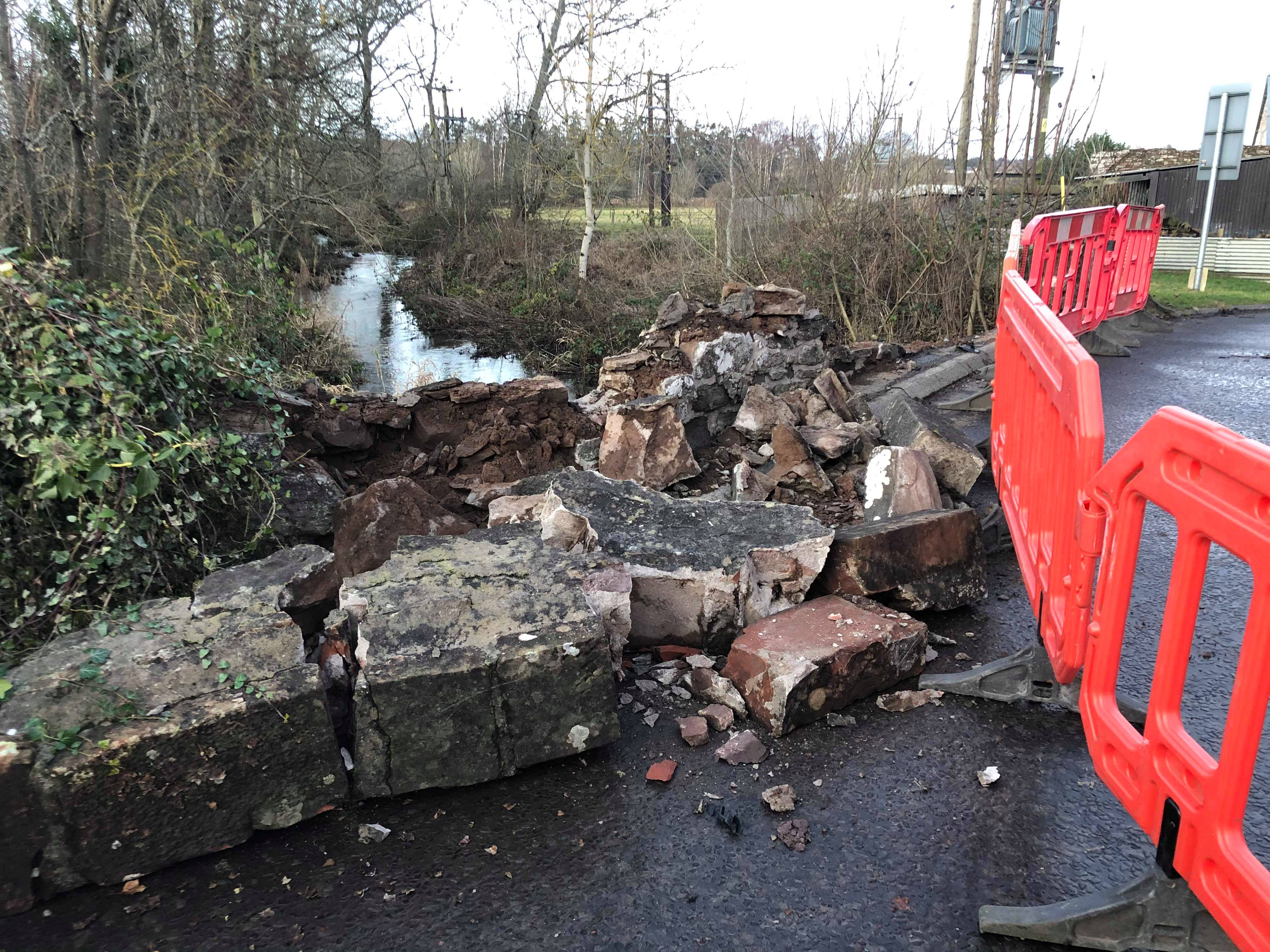 Perth and Kinross Council closed the Lade Bridge in Ruthvenfield after it took 'substantial damage' when it was hit by a vehicle.