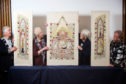 Tapestry group volunteers Linda Walker, Pat Beaton, Jeanette Nairn and Anne Marie Bray with the stunning piece.