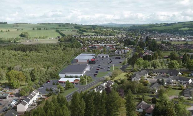 An artists impression of how the Westpark development could look