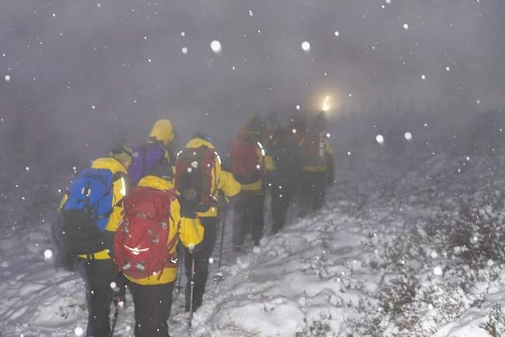 Members of Cairngorm Mountain Rescue Team on the Ben Elder Estate.