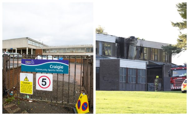 Craigie High, left, and Braeview Academy, which was badly damaged by fire in 2018