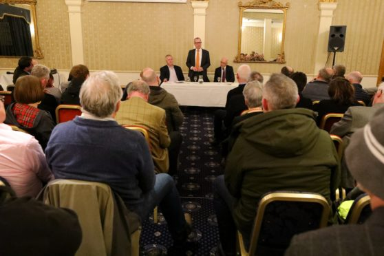 Retailers attended a public meeting on the future of the high street