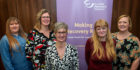 Making Recovery Real partners in Edinburgh. From left: Hollie Gilchrist, Ruth Brown, Louise Christie, Rona Foy and Emma Wilson.