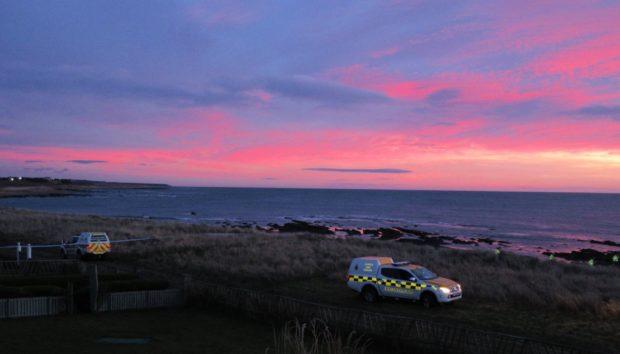 The Coastguard at the beach on Sunday January 5