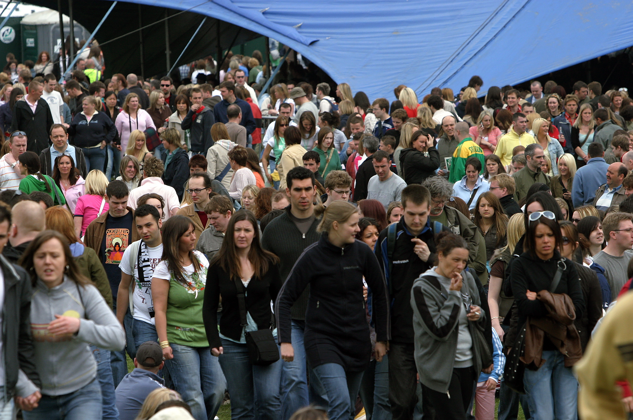 Part of huge crowd at the Radio 1 Big Weekend, Dundee, in 2006.