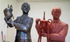A completed maquette of the statue of Dundee Utd Legend Jim McLean stands in front of the statue which is ready now to be bronzed. Artist Alan Herriot has been commissioned to create the Statue which will take pride of place outside Tannadice once complete.
