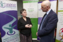 Joan Maclean talks with John Swinney MSP