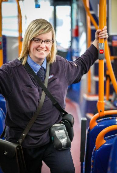 73 bus conductor Margaret Rennie.