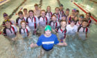 Katie with friends from Carnegie Swimming Club.
