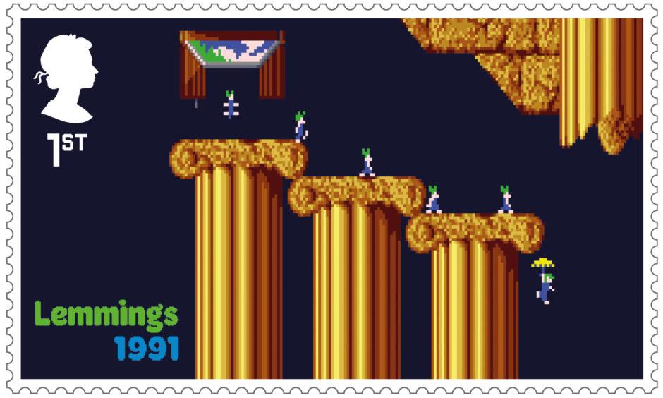 Lemmings postage stamp