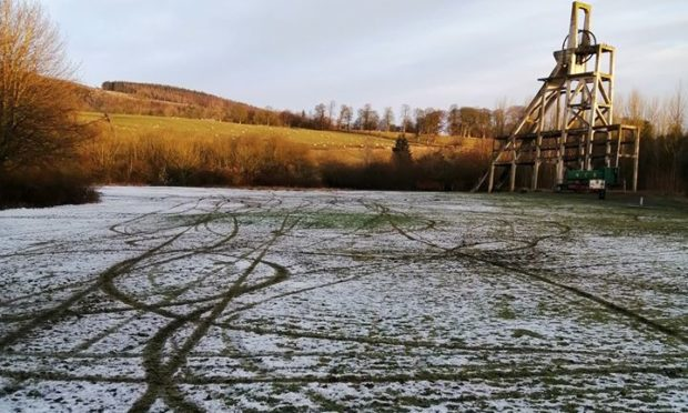 Lochore Meadows Country Park was torn up by scrambler bikes.