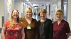 (L-R) Emergency Care and Medicine Service Manager, Dr Shirley-Anne Savage, Clinical MND Nurse Specialist, Louise Murrie, Director of Nursing, Helen Buchanan, Clinical Nurse Manager, Esther Pow.