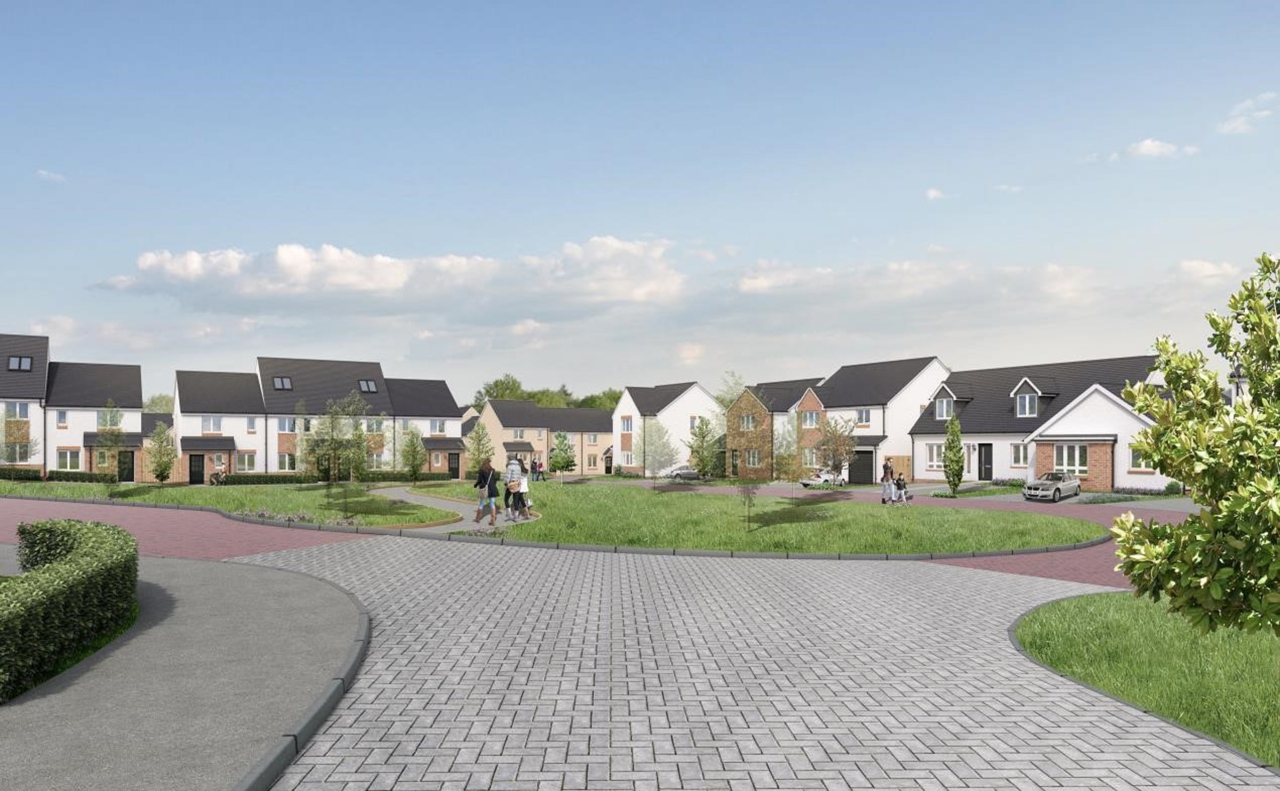 An artist's impression of how the development will look, with work expected to start in April.