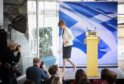 First Minister Nicola Sturgeon leaves the stage after speaking during an event at the Ozone, Our Dynamic Earth, in Edinburgh to outline Scottish independence plans on the day that the UK left the European Union.