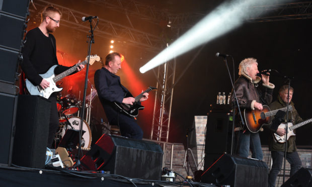 Big Country were among the acts who played at the free concert.