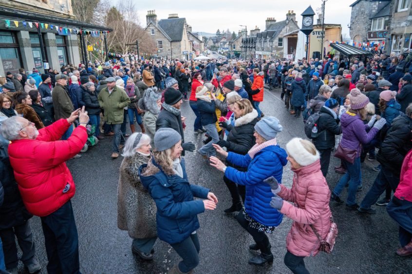 The Pitlochry New Year's Day Street Party