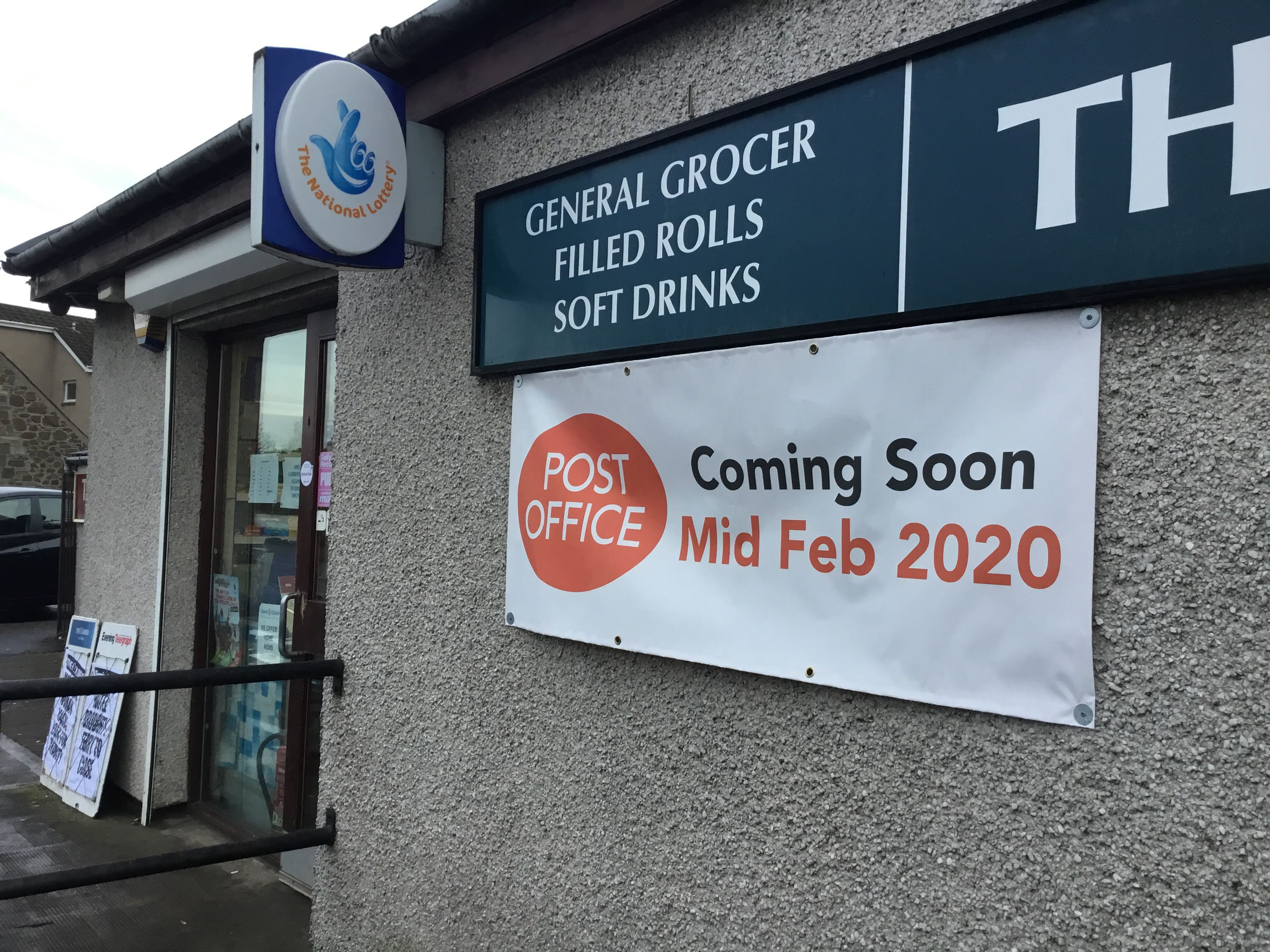 The new post office will be on Balgillo Road.