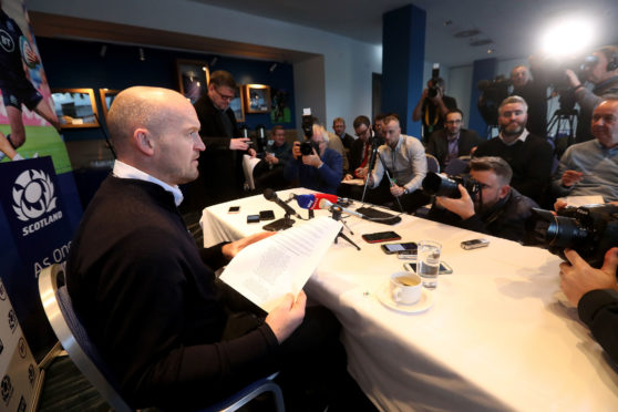 Scotland head coach Gregor Townsend faces the media announcing his 6 Nations squad.