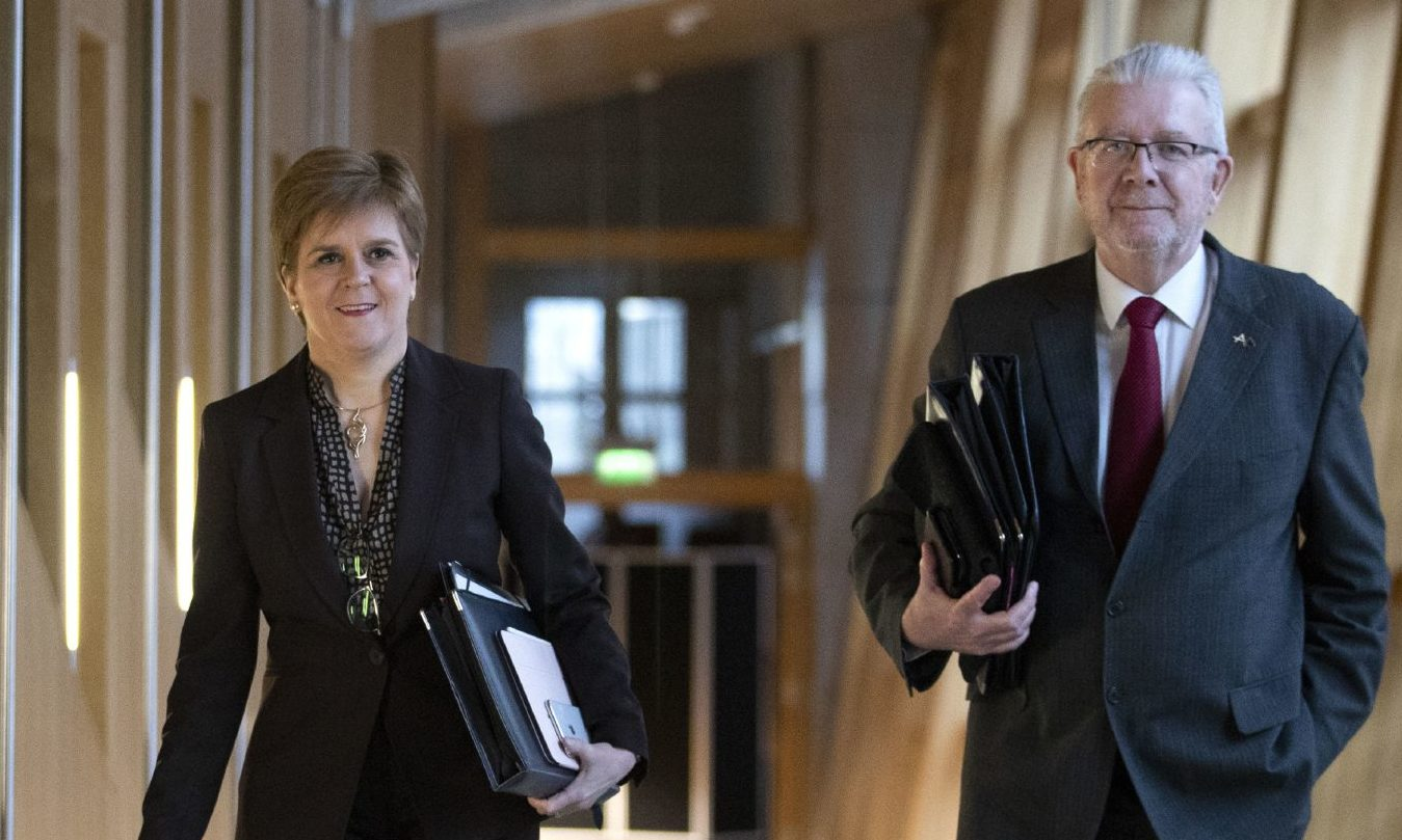 First Minister Nicola Sturgeon and Cabinet Secretary for Government Business and Constitutional Relations Mike Russell