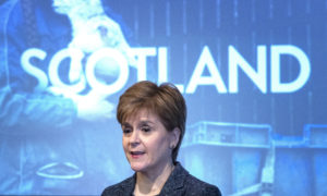 First Minister Nicola Sturgeon during an event at the Kimpton Charlotte Square Hotel, Edinburgh, to celebrate the positive impact of EU citizens and to announce further funding for the Stay in Scotland campaign.