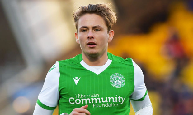 GLASGOW, SCOTLAND - DECEMBER 29: Hibernian's Scott Allan during the Ladbrokes Premiership match between Livingston and Hibernian at The Tony Macaroni Arena on December 29, 2019 in Glasgow, Scotland. (Photo by Gary Hutchison / SNS Group)