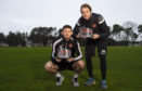 Calum Butcher and Robbie Neilson with their respective awards.