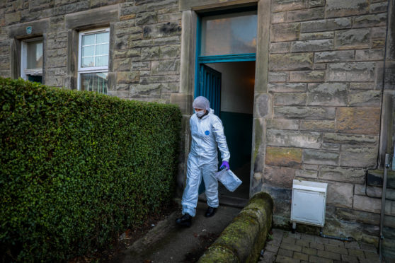 Forensic officers attended the scene