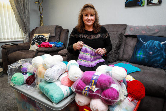 Fife mum Gail Cheney is  knitting in aid of the animal caught up in the Australian bush fire crisis.