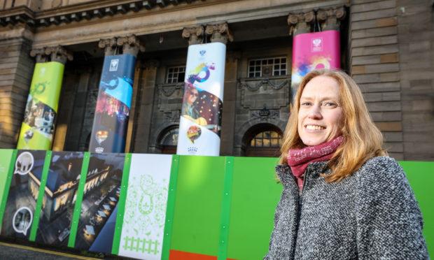 Visit Scotland's Regional Leadership Director, Caroline Warburton outside Perth City Hall.