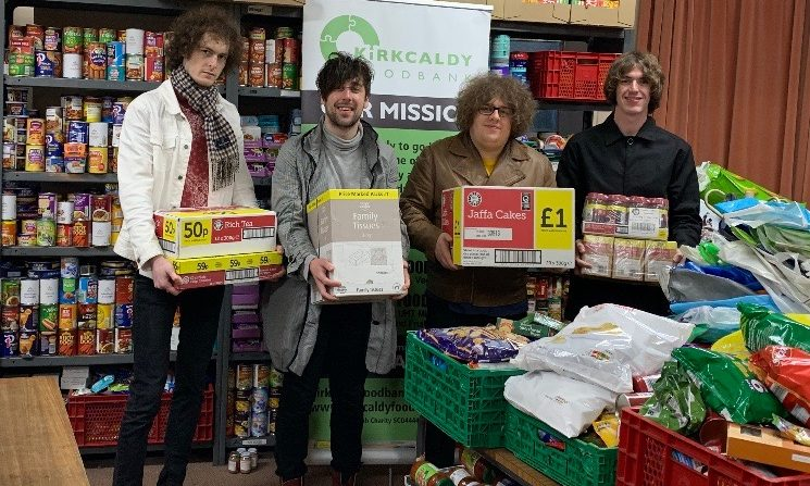 Shambolics at Kirkcaldy Foodbank at Christmas 2019