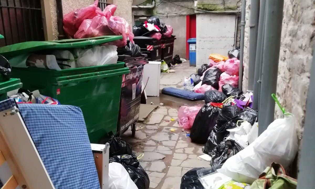 The rubbish in Perth city centre.