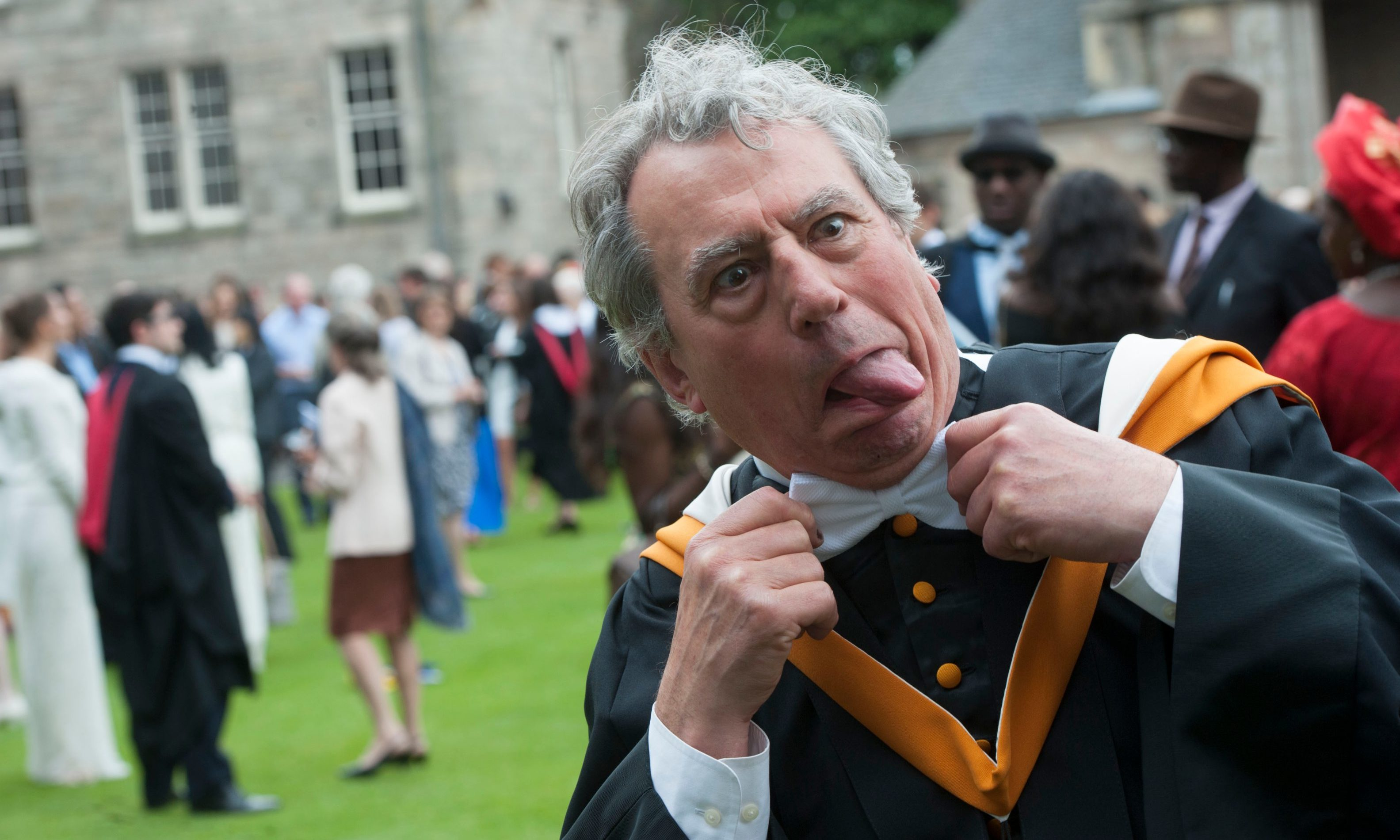 Terry Jones of Monty Python fame was awarded an degree by the University of St Andrews as part of their 600 year celebrations.