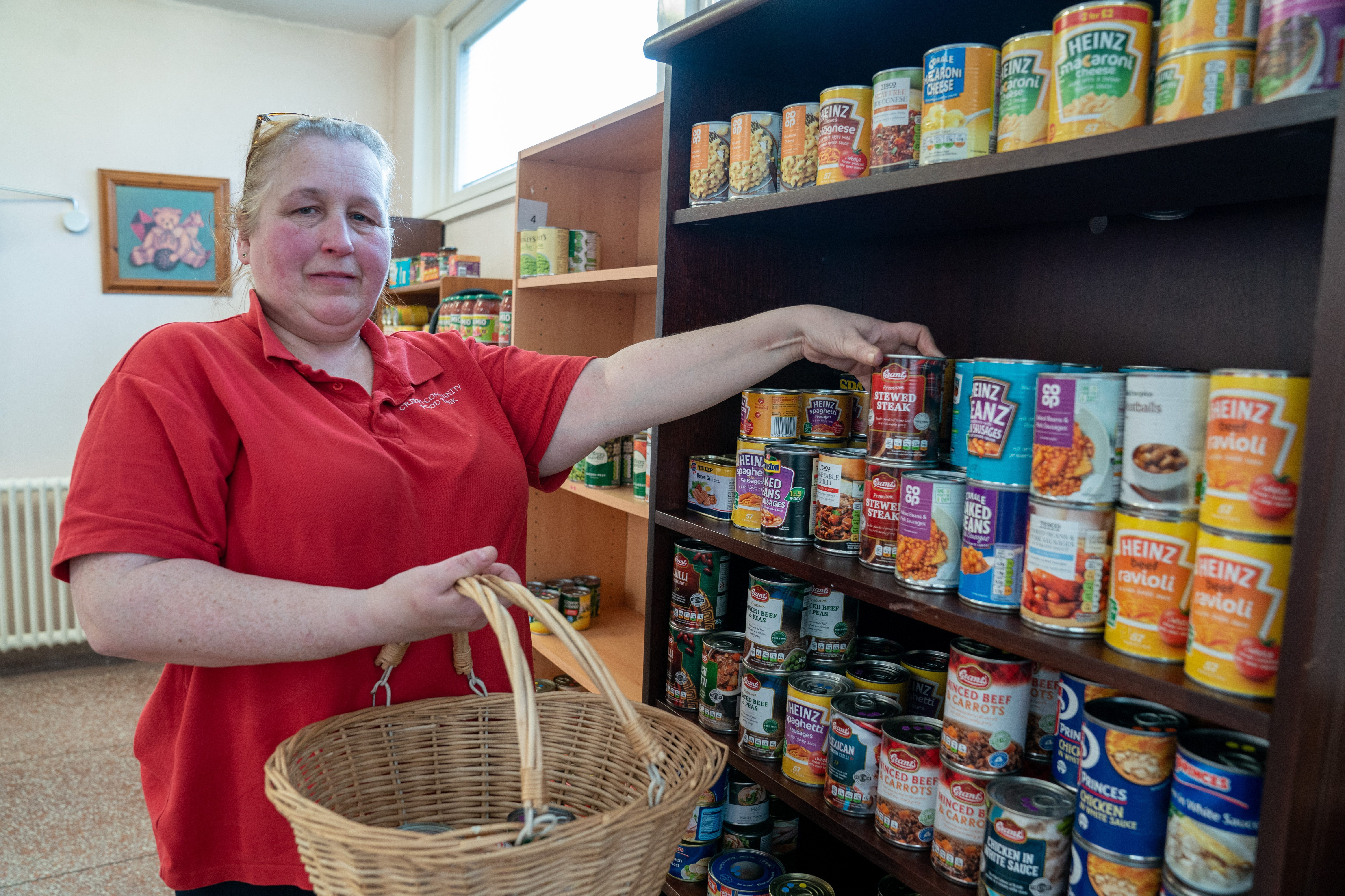 Tina McRorie of the Crieff Community Foodbank. Picture: Kenny Smith.