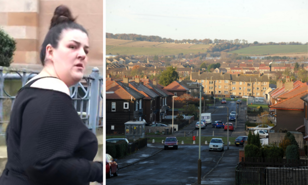 Tracey Currie attacked her boyfriend at a property in Pitkerro Drive.