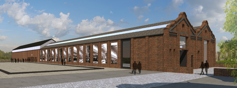A preliminary design of how the re-developed depot would look.