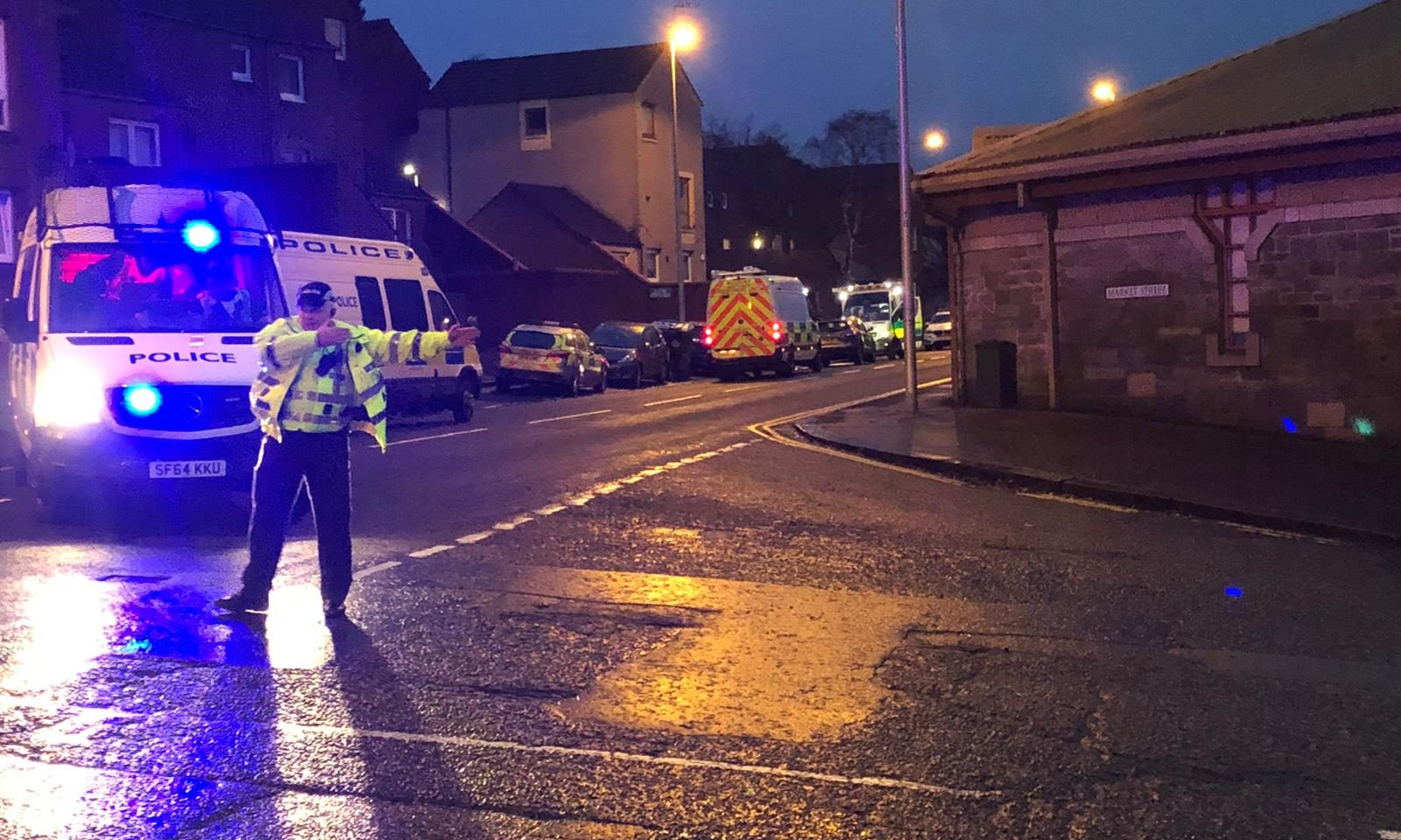 Police on the scene near Broughty Ferry Road.